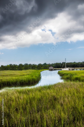 Fotografia salt marsh at Shem Creek in Mount Pleasant South Carolina