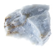 canvas print picture - rough Angelite (Blue Anhydrite) stone on white