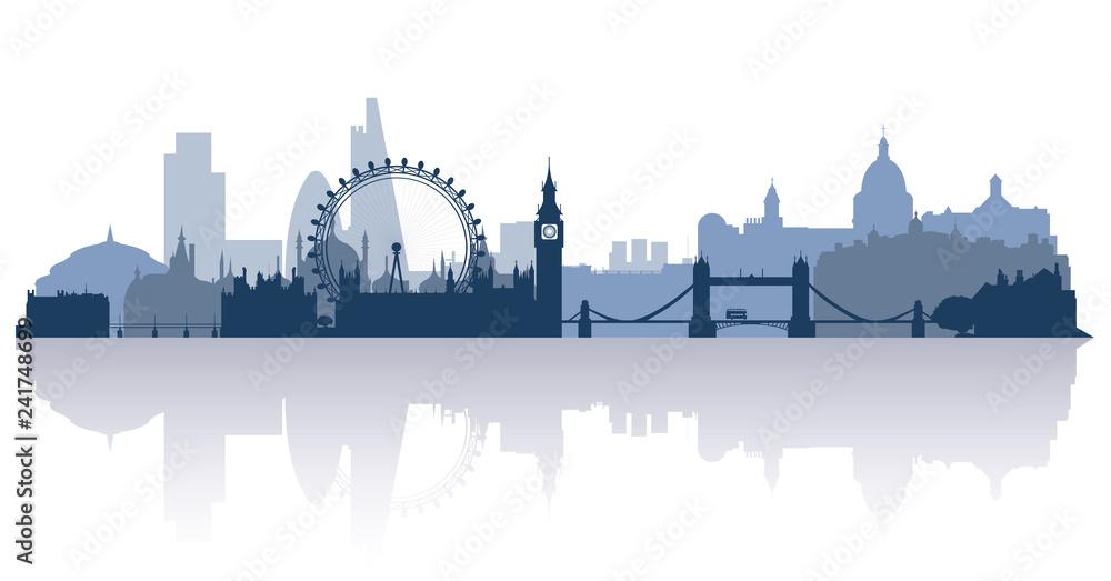 Photo  london in flat stile vector