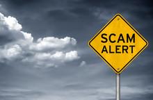 Scam Alert - Warning Sign