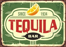 Tequila Bar Vintage Tin Sign F...