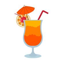 Tequila Sunrise Cocktail - Ora...
