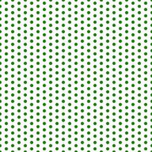 Polka Dots Seamless Pattern - Large Green Polka Dots On White Background