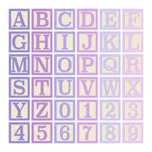 Pink And Purple Alphabet Block...