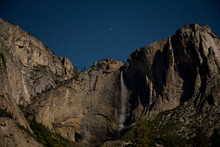 Moonlit Landscape Image Of Yos...