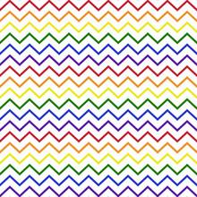 Rainbow Chevron Seamless Patte...