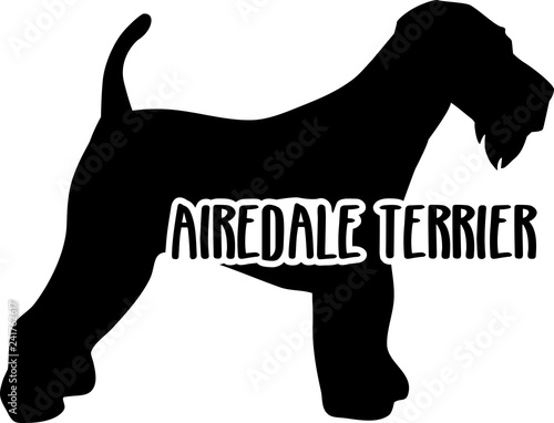 Airedale Terrier silhouette real word Canvas Print