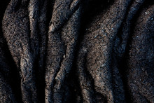Detail Of Hardened Pa'hoehoe Lava Flow In Volcanoes National Park, Hawaii.