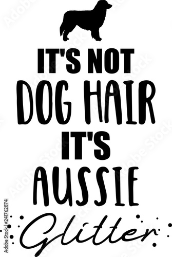 It's not dog hair, it's Aussie glitter Canvas Print