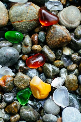 Glass beach near Fort Bragg California. - 241763021