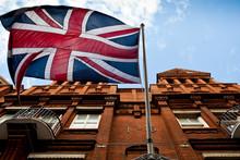 A British Flag Flies High Abov...