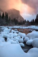 Yosemite Valley With Frozen Me...
