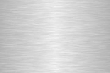 Seamless brushed metal texture. Steel background. Vector illustration.