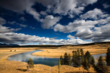 Yellowstone River, Yellowstone National Park, Wyoming.