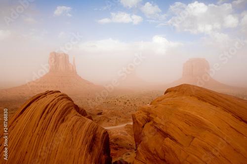 Sandstorm in Monument Valley, Utah, USA