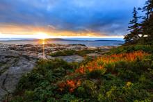 Acadia National Park Ocean Sun...