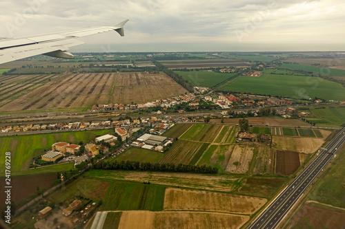 Fotografie, Obraz  panoramica aerea della campagna romana - 203