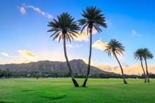Diamond Head At Sunrise, Oahu,...