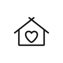 House With Heart Shape Within,...
