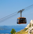 cable car on top of the mountain
