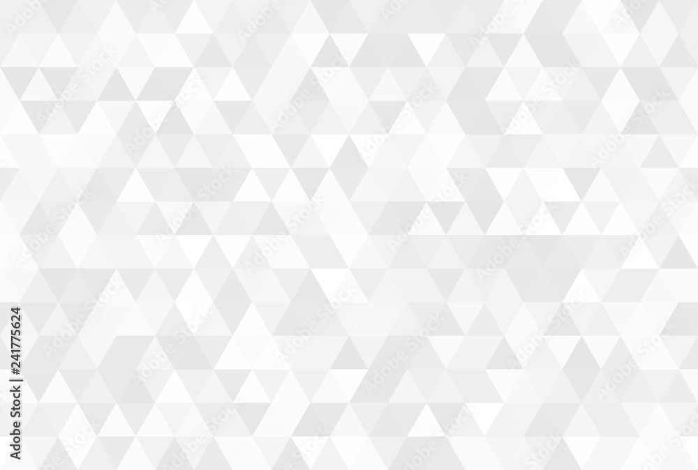 Fototapeta Vector abstract gray background. Seamless modern pattern. Geometric texture with triangles.