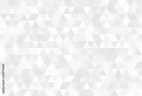 fototapeta na ścianę Vector abstract gray background. Seamless modern pattern. Geometric texture with triangles.