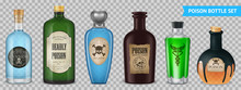 Realistic Poison Bottles Set