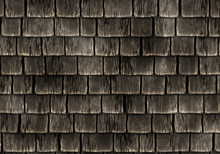 Old Weathered Wooden Roof Tiles