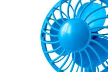 Electric Blue Fan On Batteries