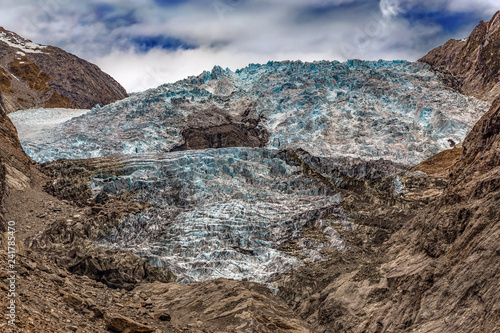 Staande foto Oceanië New Zealand. South Island, Westland Tai Poutini National Park - Franz Josef Glacier