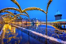 Lucerne Old Town, Switzerland,...