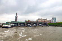 June 13, 2018, Hoboken, New Jersey. The Erie-Lackawanna Railroad And Ferry Terminal, Also Known As The Hoboken Terminal, Is A Ferry And Train Terminal At The Edge Of The Hudson River In New Jersey.