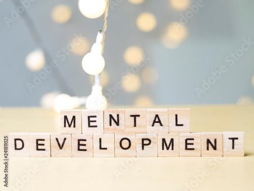 Fotografie, Obraz  Mental Development. Words Typography Concept