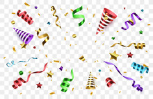 Confetti With Party Poppers Is...