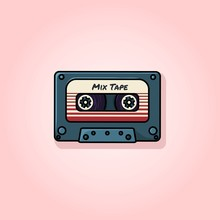 Plastic Audio Compact Cassette Tape - Web Illustration