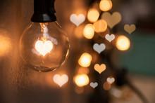 Light Bulbs With Hearts Shape ...