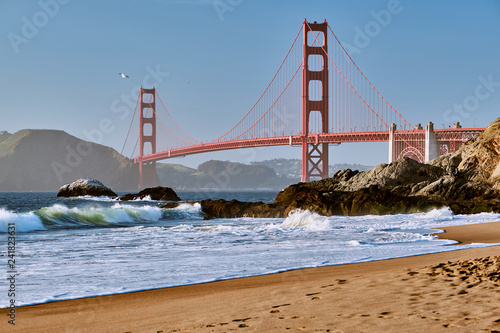 Deurstickers Amerikaanse Plekken Golden Gate Bridge, San Francisco, California