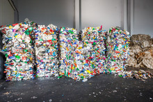 Plastic Bales Of Rubbish At Th...