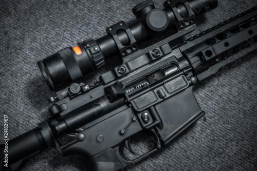 assault rifle close up