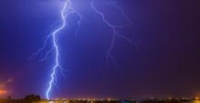 Large Lightning Strike To Ground