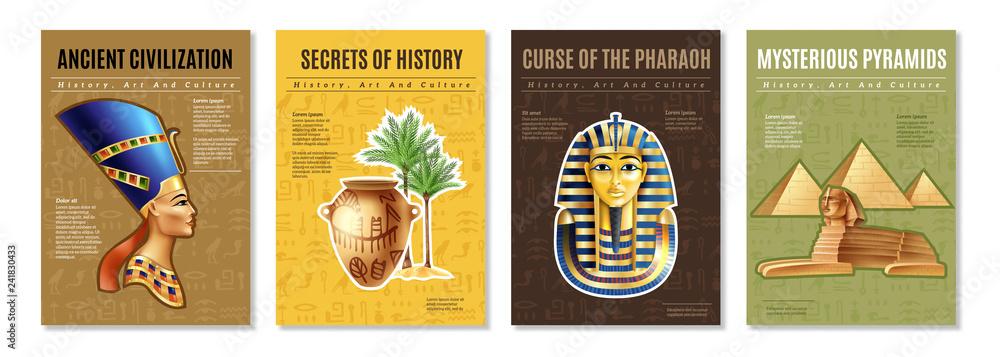 Fototapeta Egypt Posters Set