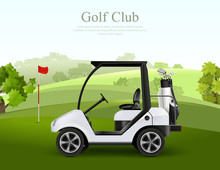 Golf Car Ilustration