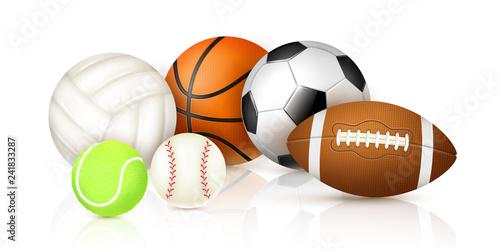 Canvastavla Realistic Sport Balls
