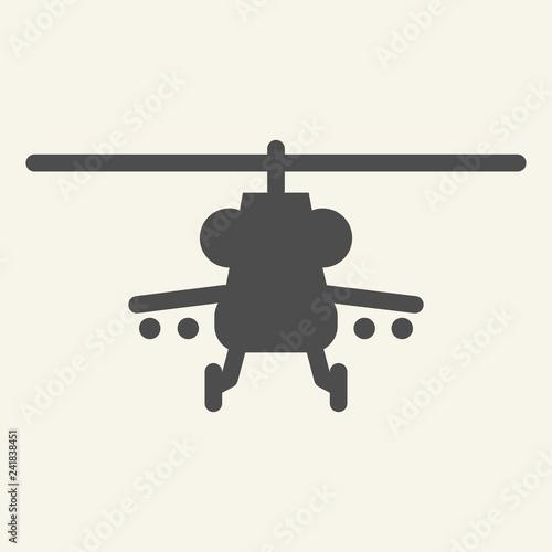 Fotografía  Combat helicopter solid icon