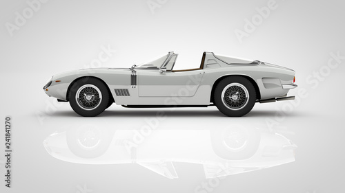 Foto  rare classic targa roadster car with cutout path