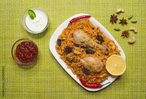National dish of Saudi Arabia is Kabsa Fahm (Ruz Bukhari).