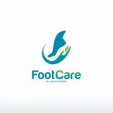 Foot Care Logo Designs Concept...