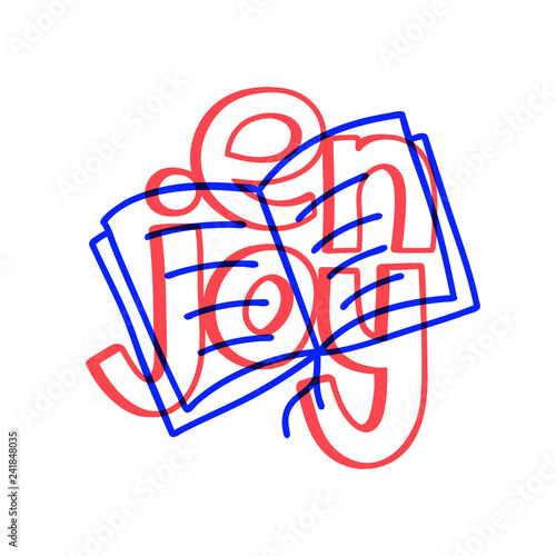 Beautiful enjoy read doodle, great design for any purposes Canvas Print