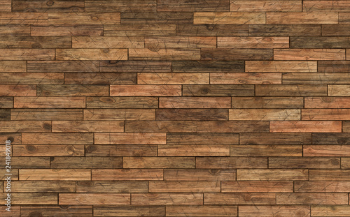 Obraz old wooden parquet with scratches 40x25cm 300dpi - fototapety do salonu