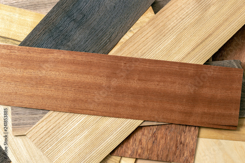 Fotografia  Wooden veneer to use as a background